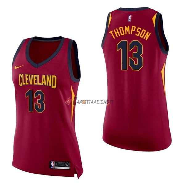 Hot- Maglia NBA Donna Cleveland Cavaliers NO.13 Tristan Thompson Rosso Icon