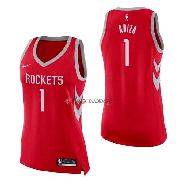 Hot- Maglia NBA Donna Houston Rockets NO.1 Trevor Ariza Rosso Icon