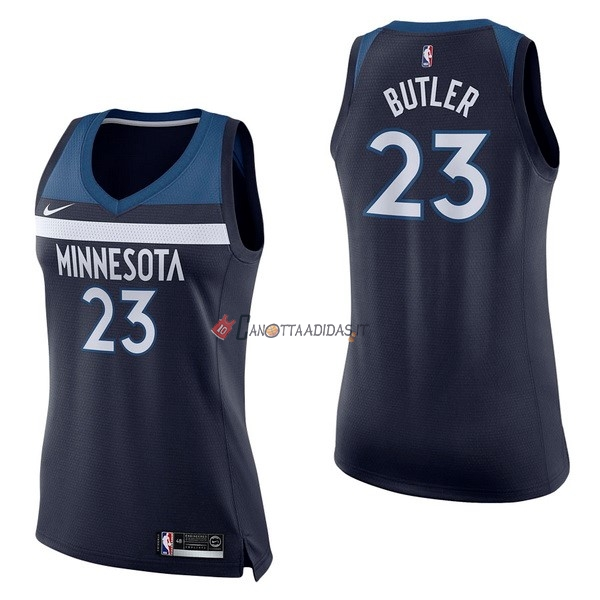 Hot- Maglia NBA Donna Minnesota Timberwolves NO.23 Jimmy Butler Marino Icon