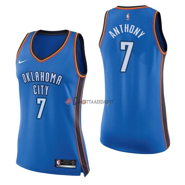 Hot- Maglia NBA Donna Oklahoma City Thunder NO.7 Carmelo Anthony Blu Icon
