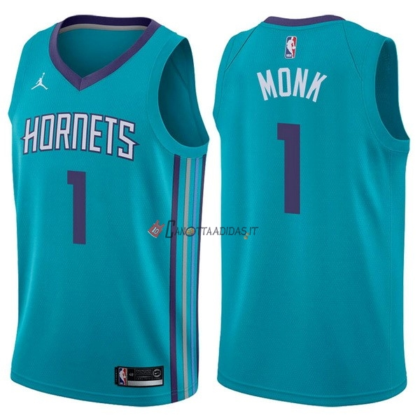 Hot- Maglia NBA Nike Charlotte Hornets NO.1 Malik Monk Verde Icon