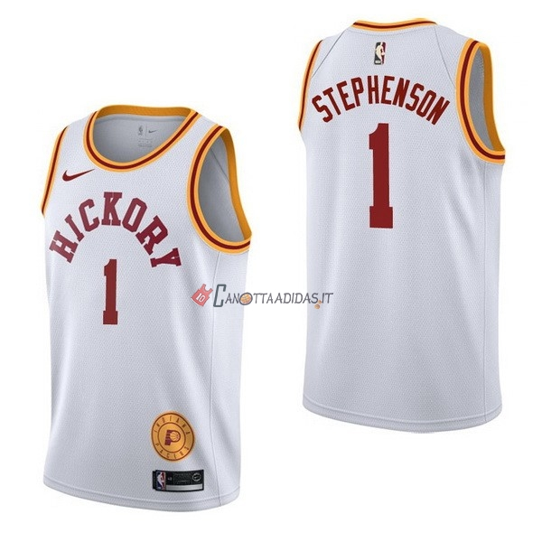 Hot- Maglia NBA Nike Indiana Pacers NO.1 Lance Stephenson Retro Bianco