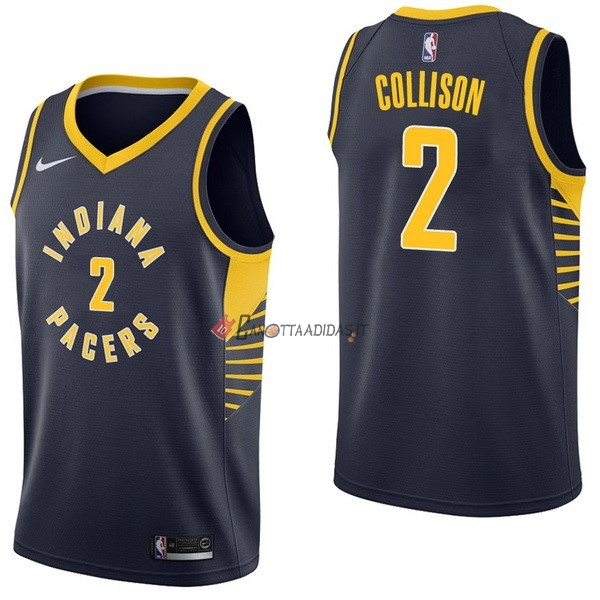 Hot- Maglia NBA Nike Indiana Pacers NO.2 Darren Collison Marino Icon