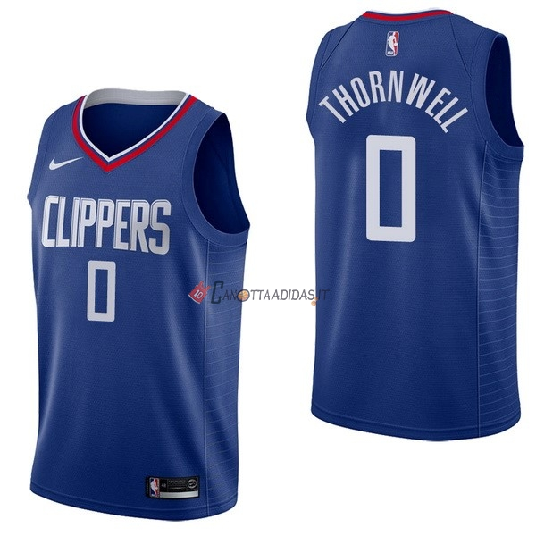 Hot- Maglia NBA Nike Los Angeles Clippers NO.0 Sindarius Thornwell Blu Icon