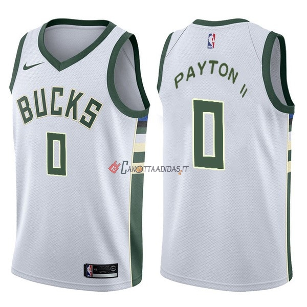 Hot- Maglia NBA Nike Milwaukee Bucks NO.0 Gary Payton II Bianco Association