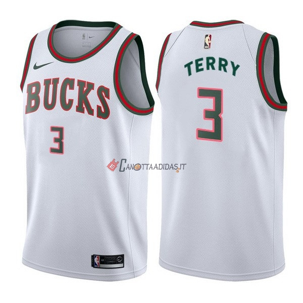 Hot- Maglia NBA Nike Milwaukee Bucks NO.3 Jason Terry Retro Bianco