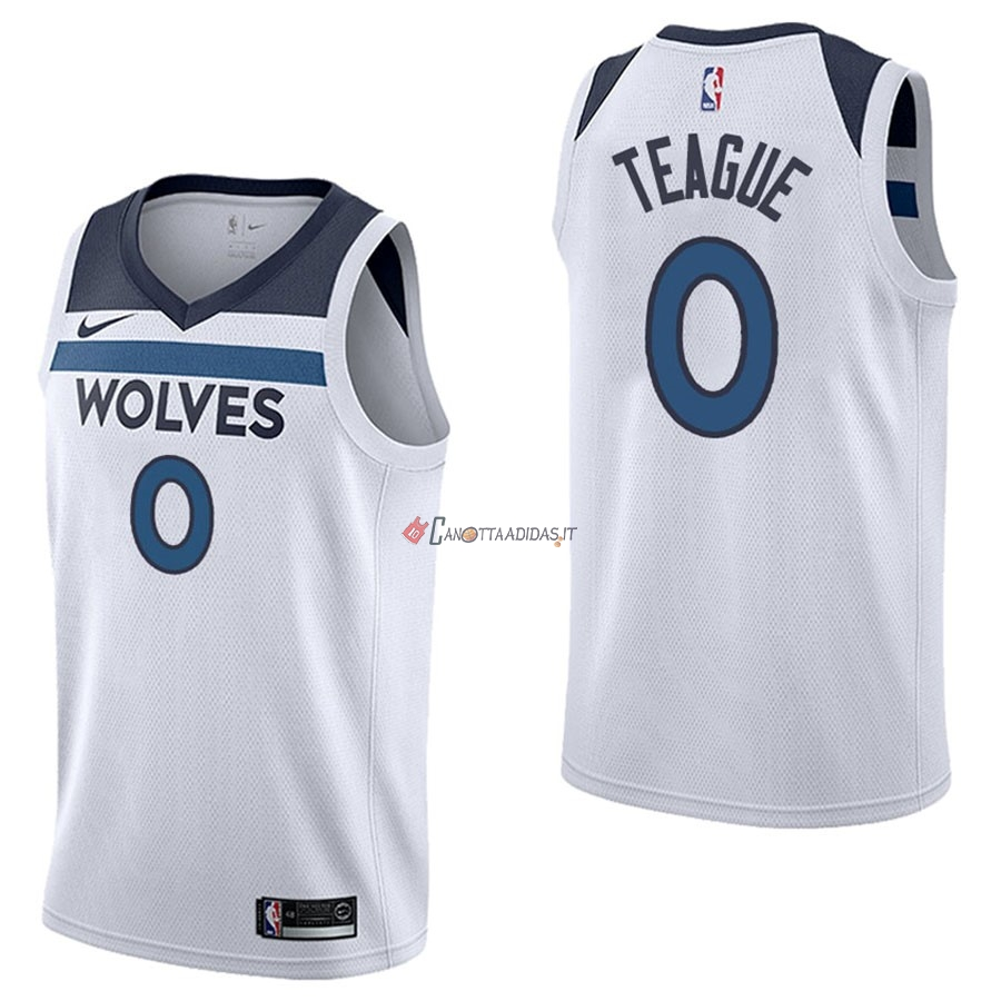 Hot- Maglia NBA Nike Minnesota Timberwolves NO.0 Jeff Teague Bianco Association