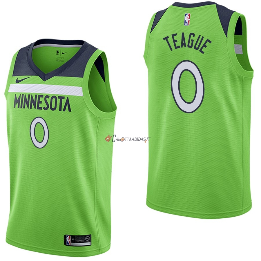 Hot- Maglia NBA Nike Minnesota Timberwolves NO.0 Jeff Teague Verde Statement