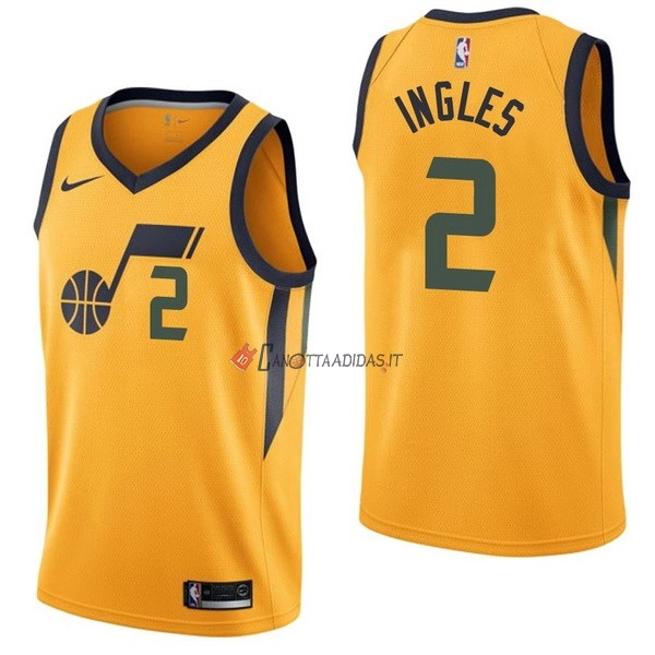 Hot- Maglia NBA Nike Utah Jazz NO.2 Joe Ingles Giallo Statement