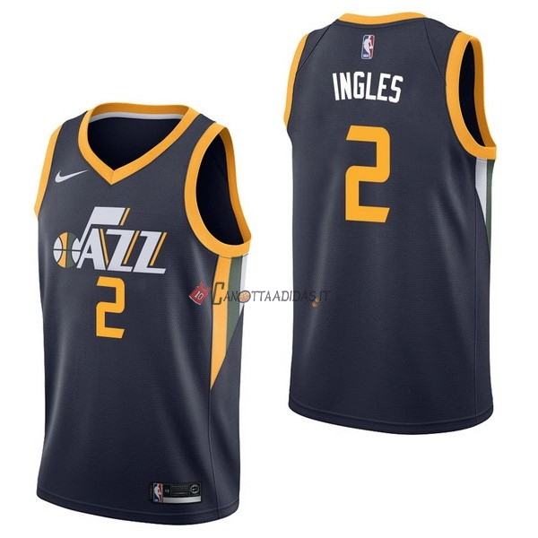 Hot- Maglia NBA Nike Utah Jazz NO.2 Joe Ingles Marino Icon