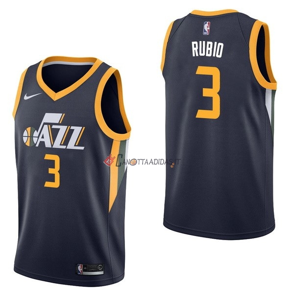 Hot- Maglia NBA Nike Utah Jazz NO.3 Ricky Rubio Marino Icon