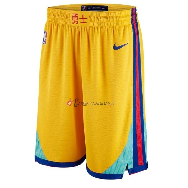Hot- Pantaloni Basket Golden State Warriors Giallo Città