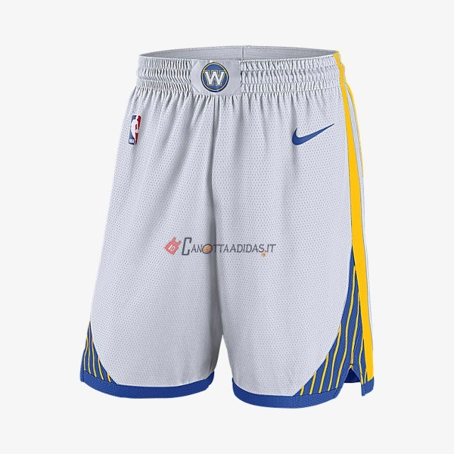 Hot- Pantaloni Basket Golden State Warriors Nike Bianco