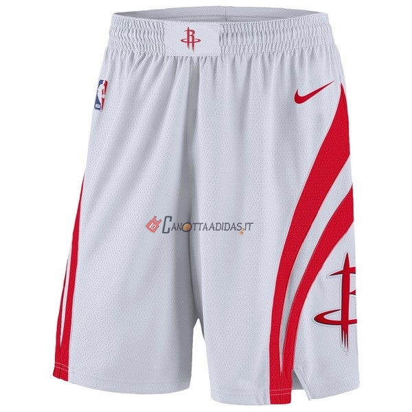 Hot- Pantaloni Basket Houston Rockets Nike Bianco