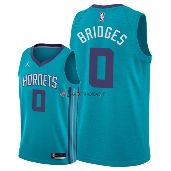 Hot- Maglia NBA Nike Charlotte Hornets NO.0 Miles Bridges Verde Icon 2018