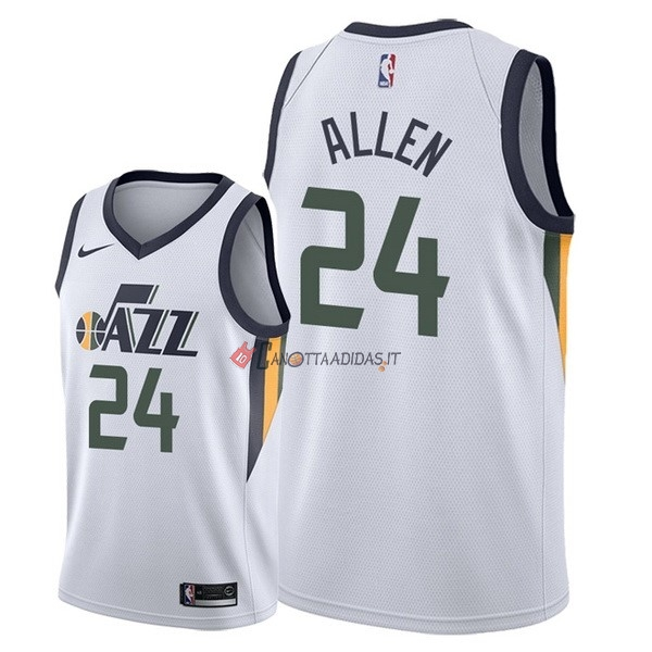 Hot- Maglia NBA Nike Utah Jazz NO.24 Grayson Allen Bianco Association 2018