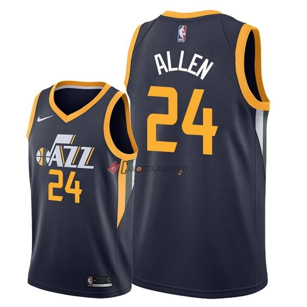 Hot- Maglia NBA Nike Utah Jazz NO.24 Grayson Allen Marino Icon 2018