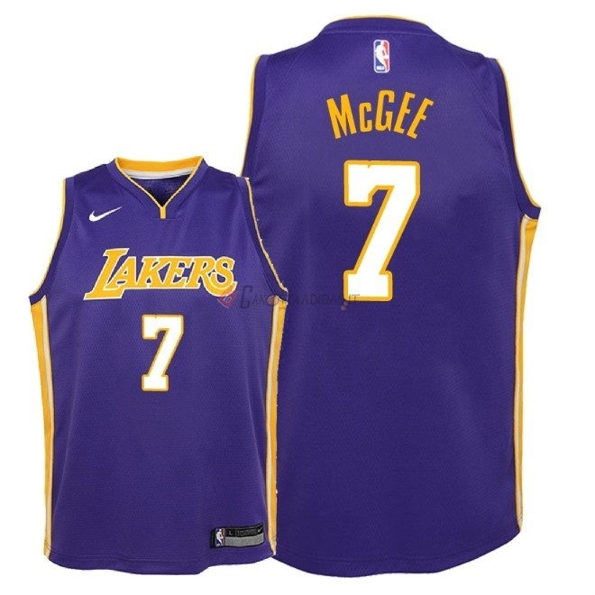 Hot- Maglia NBA Bambino L.A.Lakers NO.7 JaVale McGee Porpora Statement 2018