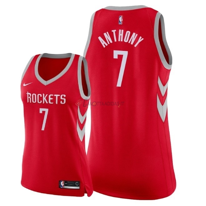 Hot- Maglia NBA Donna Houston Rockets NO.7 Carmelo Anthony Rosso Icon 2018