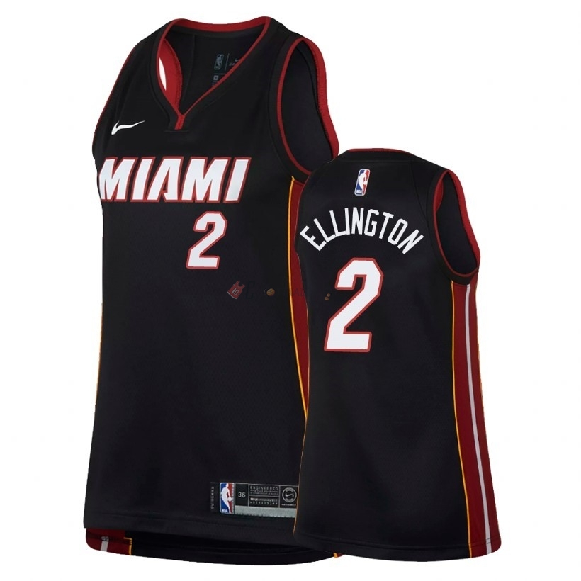 Hot- Maglia NBA Donna Miami Heat NO.2 Wayne Ellington Nero Icon 2018