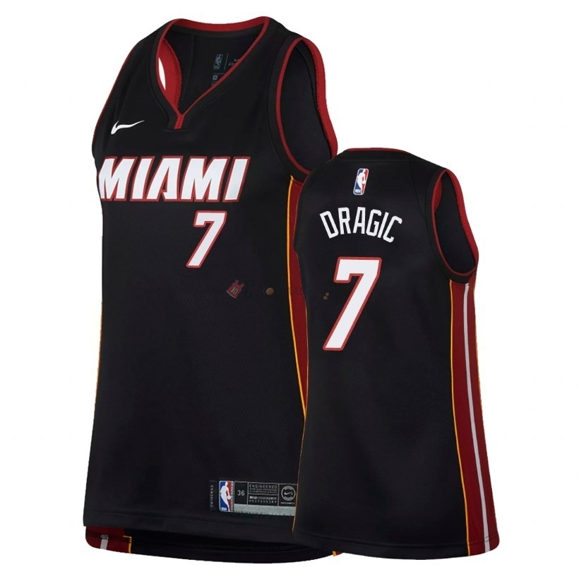 Hot- Maglia NBA Donna Miami Heat NO.7 Goran Dragic Nero Icon 2018