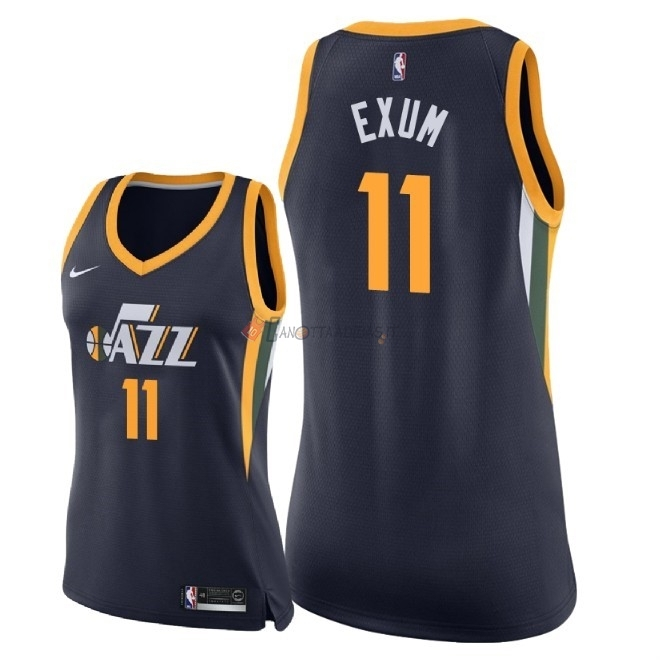 Hot- Maglia NBA Donna Utah Jazz NO.11 Dante Exum Marino Icon 2018
