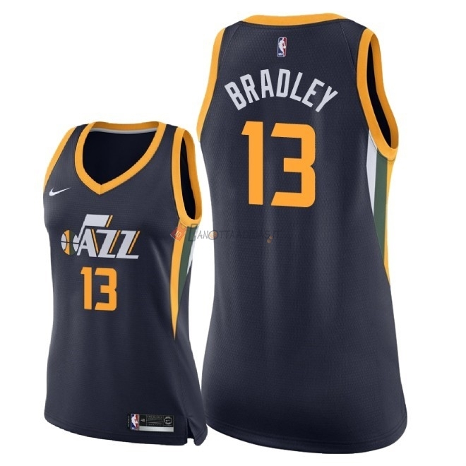 Hot- Maglia NBA Donna Utah Jazz NO.13 Tony Bradley Marino Icon 2018