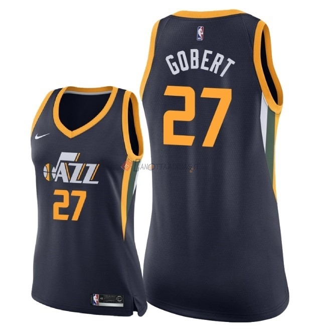 Hot- Maglia NBA Donna Utah Jazz NO.27 Rudy Gobert Marino Icon 2018
