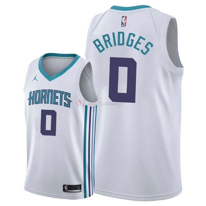 Hot- Maglia NBA Nike Charlotte Hornets NO.0 Miles Bridges Bianco Association 2018