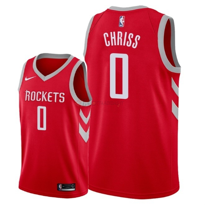 Hot- Maglia NBA Nike Houston Rockets NO.0 Marquese Chriss Rosso Icon 2018