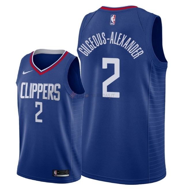Hot- Maglia NBA Nike Los Angeles Clippers NO.2 Shai Gilgeous Alexander Blu Icon 2018