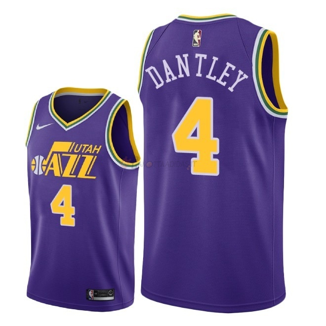 Hot- Maglia NBA Nike Utah Jazz NO.4 Adrian Dantley Retro Porpora 2018