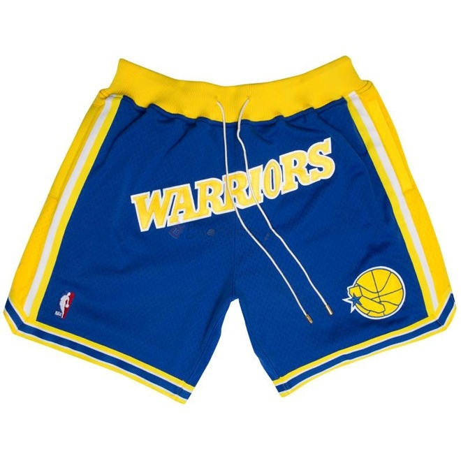 Hot- Pantaloni Basket Golden State Warriors Nike Retro Blu 2018