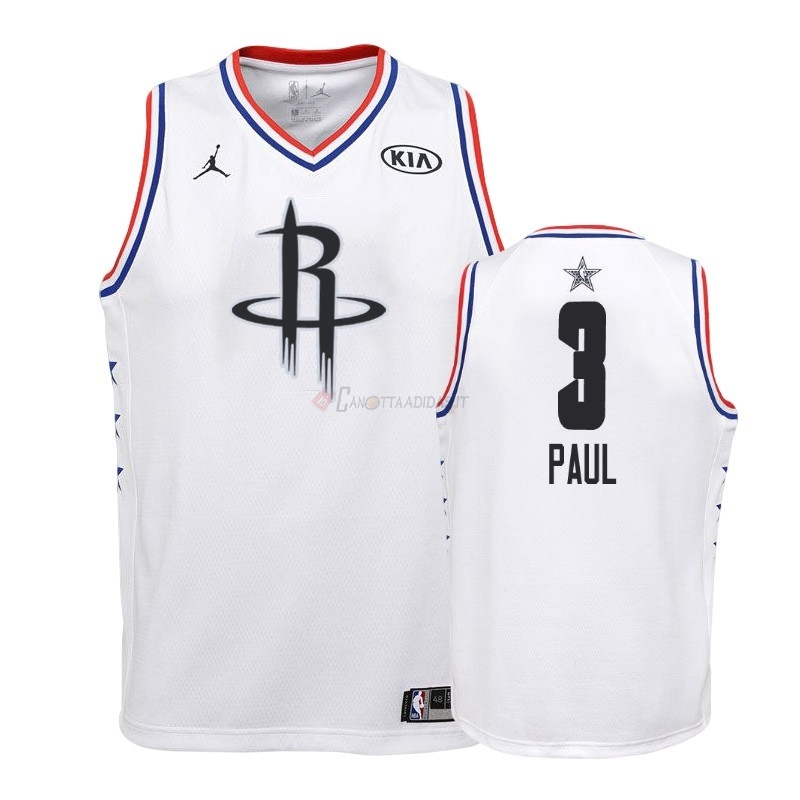 Hot- Maglia NBA Bambino 2019 All Star NO.3 Chris Paul Bianco