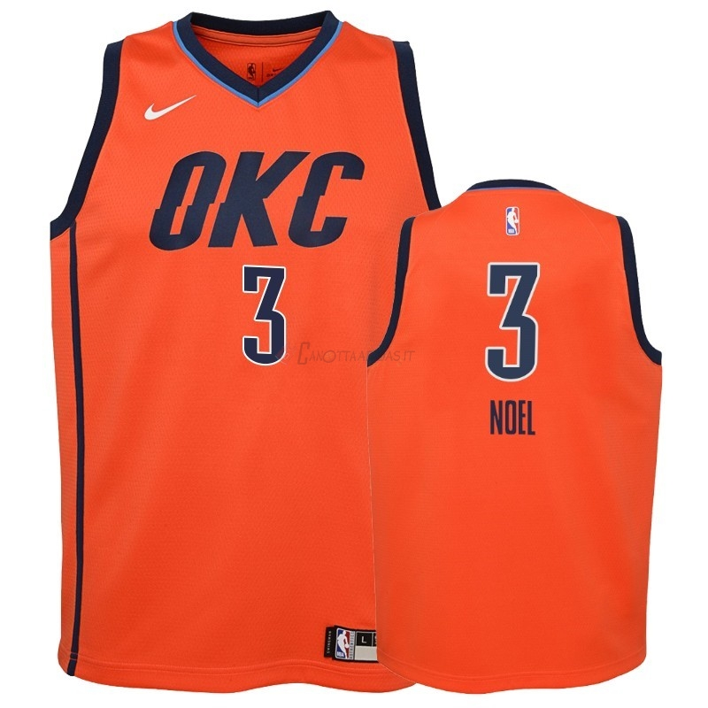 Hot- Maglia NBA Bambino Earned Edition Oklahoma City Thunder NO.3 Nerlens Noel Arancia 2018-19