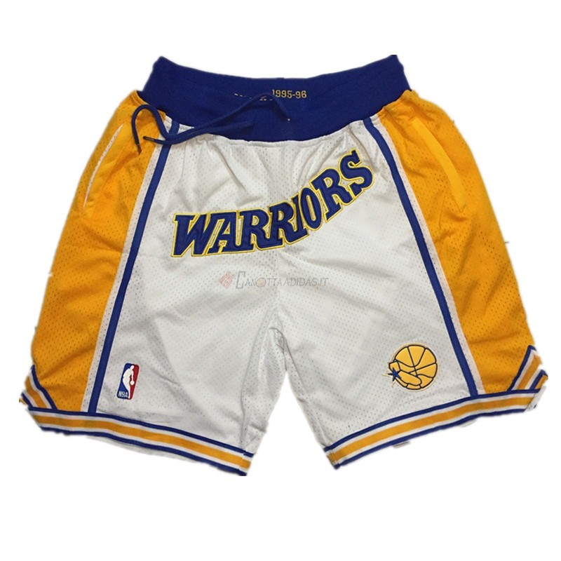 Hot- Pantaloni Basket Golden State Warriors Curry Bianco