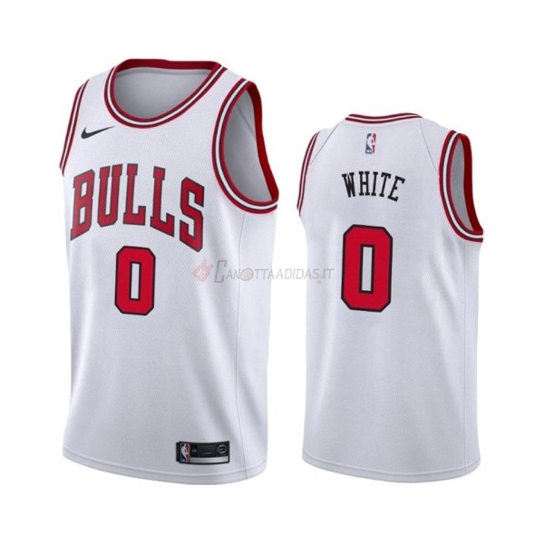 Hot- Maglia NBA Nike Chicago Bulls NO.0 Coby White Bianco Association 2019-20