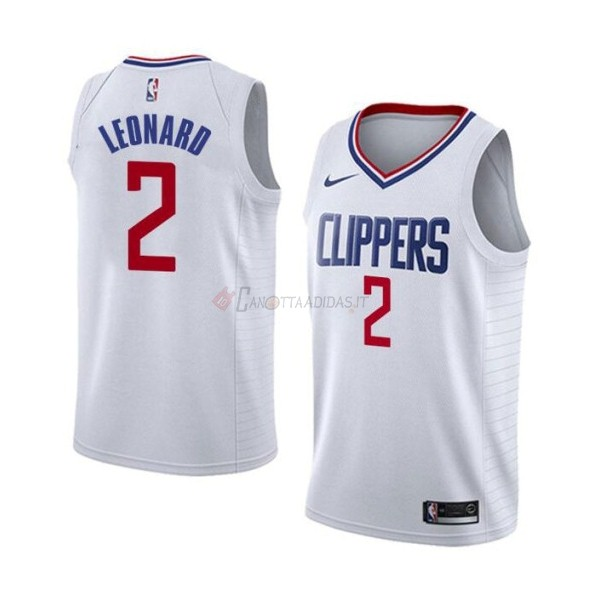 Hot- Maglia NBA Nike Los Angeles Clippers NO.2 Kawhi Leonard Bianco Association 2019-20