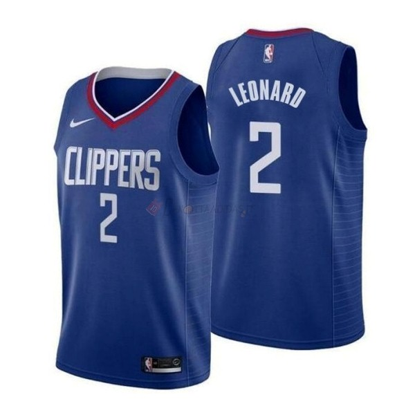 Hot- Maglia NBA Nike Los Angeles Clippers NO.2 Kawhi Leonard Blu Icon 2019-20