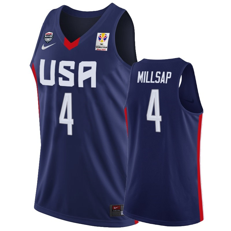 Hot- Coppa Mondo Basket FIBA 2019 USA NO.4 Paul Millsap Marino