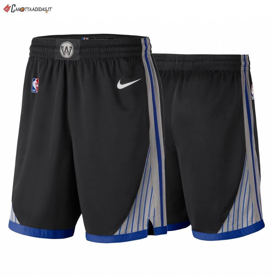 Hot- Pantaloni Basket Golden State Warriors Nike Nero Città 2019-20
