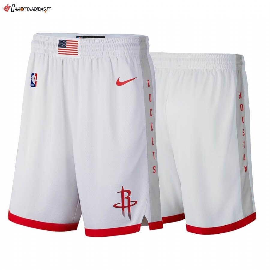 Hot- Pantaloni Basket Houston Rockets Nike Bianco Città 2019-20