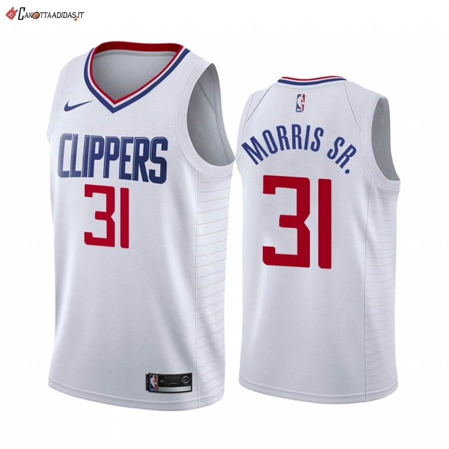 Hot- Maglia NBA Nike Los Angeles Clippers NO.31 Marcus Morris Sr. Bianco Association 2019-20