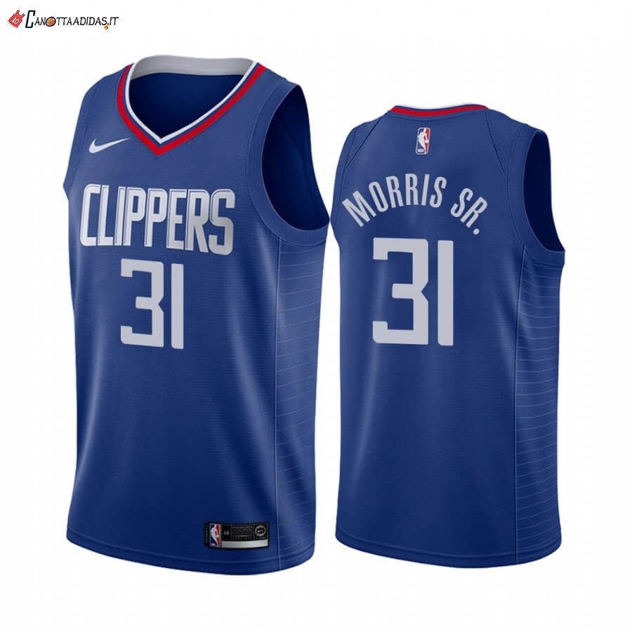 Hot- Maglia NBA Nike Los Angeles Clippers NO.31 Marcus Morris Sr. Blu Icon 2019-20