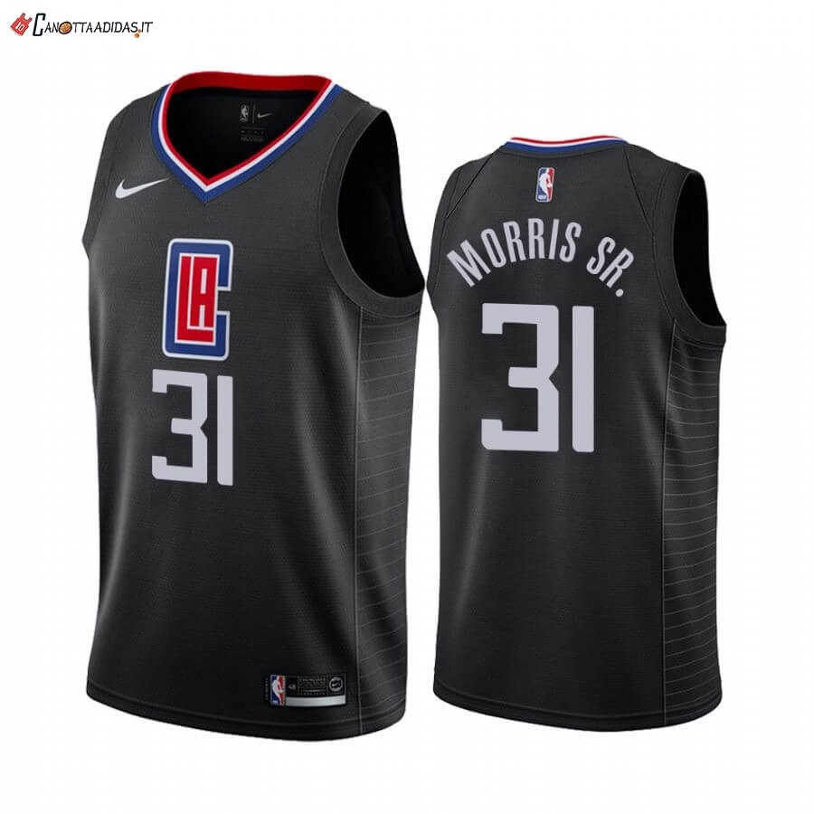 Hot- Maglia NBA Nike Los Angeles Clippers NO.31 Marcus Morris Sr. Nero Statement 2019-20