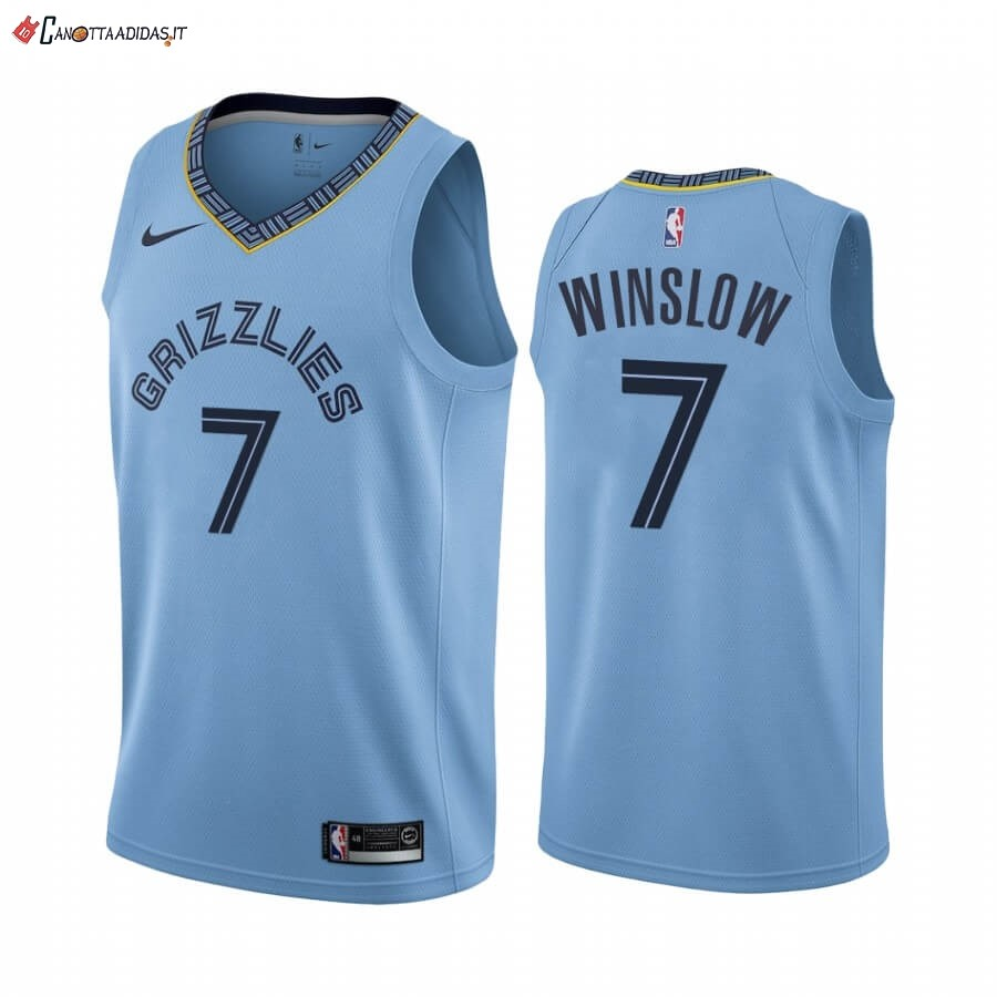 Hot- Maglia NBA Nike Menphis Grizzlies NO.7 Justise Winslow Blu Statement 2019-20
