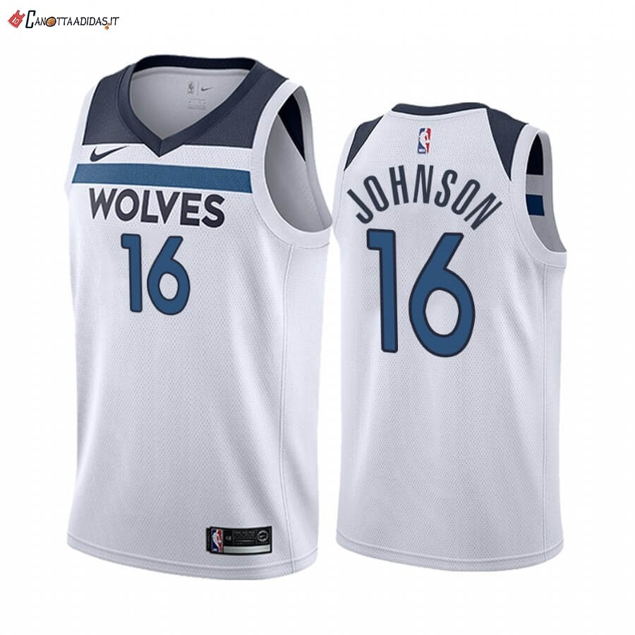 Hot- Maglia NBA Nike Minnesota Timberwolves NO.16 James Johnson Bianco Association 2019-20