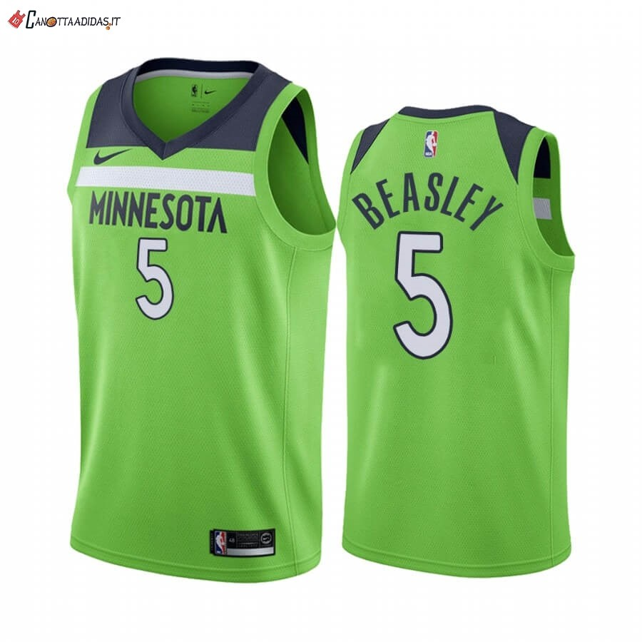 Hot- Maglia NBA Nike Minnesota Timberwolves NO.5 Malik Beasley Verde Statement 2019-20