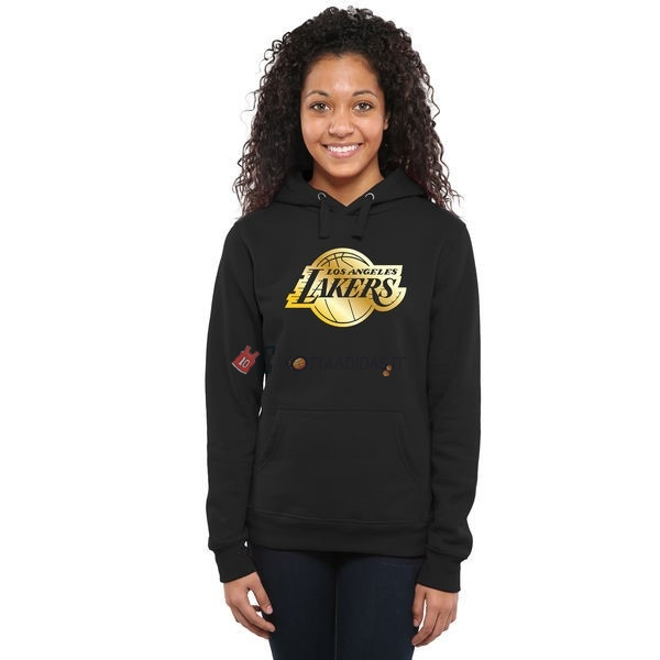 Hot- Felpe Con Cappuccio NBA Donna Los Angeles Lakers Nero Or