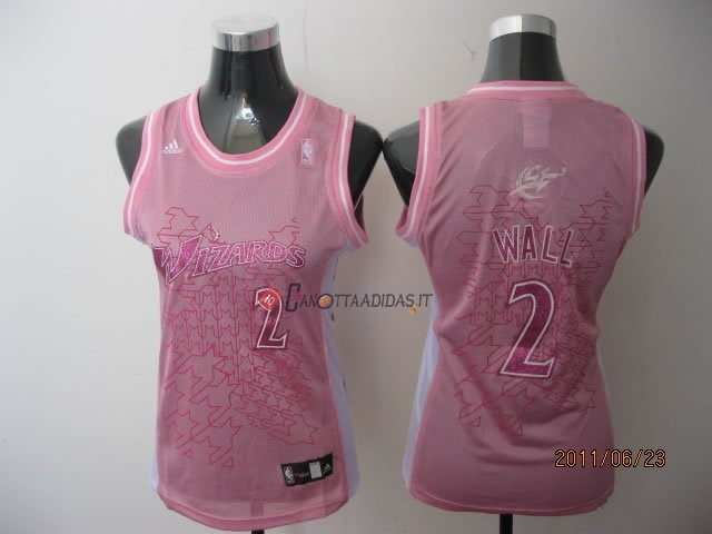 Hot- Maglia NBA Donna Washington Wizards NO.2 John Wall Rose